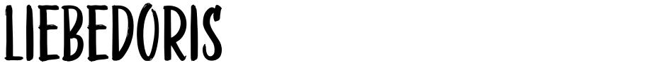 Click to view  LiebeDoris font, character set and sample text