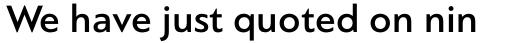 PF Bague Sans Pro Medium sample