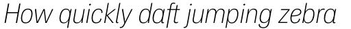 PF Das Grotesk Pro Thin Italic sample