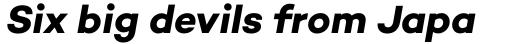 Campton Bold Italic sample