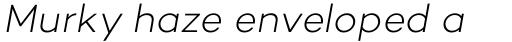 Campton Light Italic sample