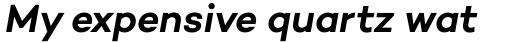 Campton SemiBold Italic sample