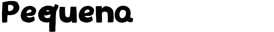 Click to view  Pequena font, character set and sample text