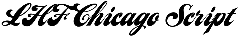 Click to view  LHF Chicago Script font, character set and sample text