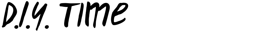 Click to view  D.I.Y. Time font, character set and sample text