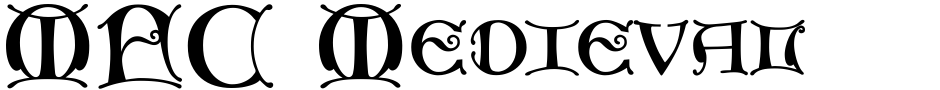 Click to view  MFC Medieval Monogram font, character set and sample text