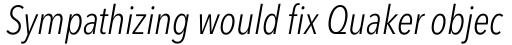 Avenir Next Pro Condensed Light Italic sample