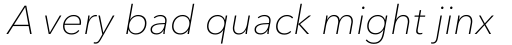 Avenir Next Pro Thin Italic sample