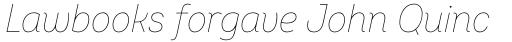 Intro Cond Thin Italic sample