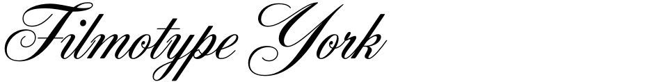 Click to view  Filmotype York font, character set and sample text