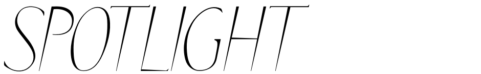 Click to view  SPOTLIGHT font, character set and sample text
