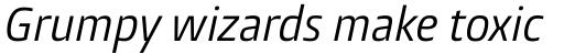 Burlingame Pro Condensed Italic sample
