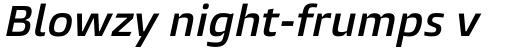 Burlingame Pro Semi Bold Italic sample