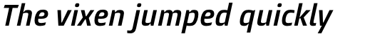 Burlingame Pro Condensed Semi Bold Italic sample