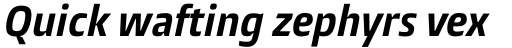 Burlingame Pro Condensed Bold Italic sample