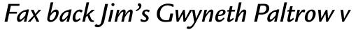 Legacy Sans Medium Italic sample