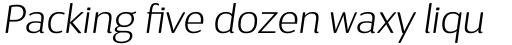 D Sari ExtraLight Italic sample