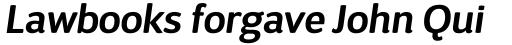 D Sari SemiBold Italic sample