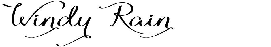 Click to view  Windy Rain font, character set and sample text