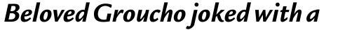 Legacy Sans Bold Italic sample