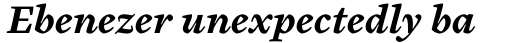 Cardea Bold Italic sample