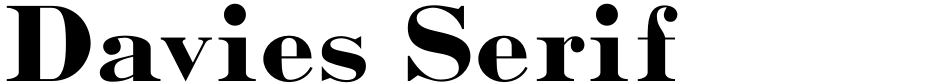 Click to view  Davies Serif font, character set and sample text