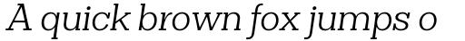 Clasica Slab Book Italic sample