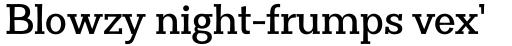 Clasica Slab Bold sample
