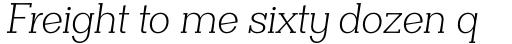 Clasica Slab Light Italic sample