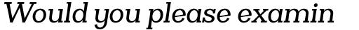 Clasica Slab Medium Italic sample