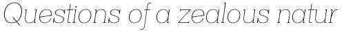 Clasica Slab Thin Italic sample