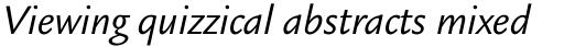 Legacy Sans OS Book Italic sample