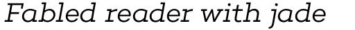 Choplin Light Italic sample