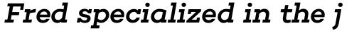 Choplin Medium Italic sample