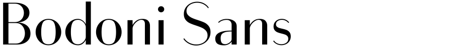 Click to view  Bodoni Sans font, character set and sample text