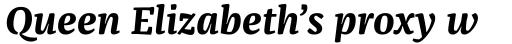 FF Franziska Pro Bold Italic sample