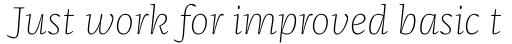 FF Franziska Pro Thin Italic sample