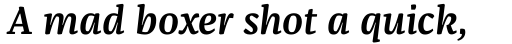 FF Franziska Pro Demi Bold Italic sample