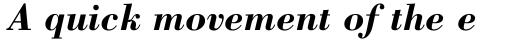 Bodoni Std Bold Italic sample