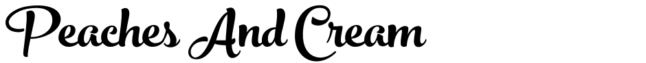 Click to view  Peaches And Cream font, character set and sample text