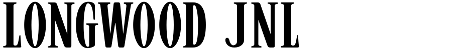 Click to view  Longwood JNL font, character set and sample text
