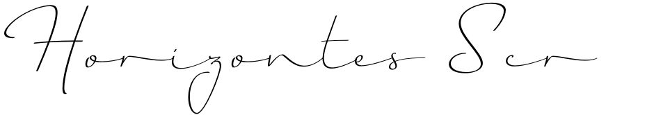 Click to view  Horizontes Script font, character set and sample text