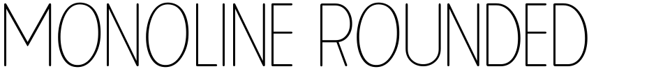Click to view  Monoline Rounded JNL font, character set and sample text