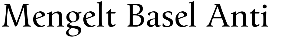 Click to view  Mengelt Basel Antiqua font, character set and sample text