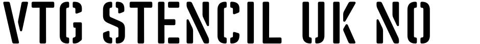 Click to view  Vtg Stencil UK No 76 font, character set and sample text