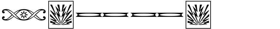 Click to view  Letterpress Ornamentals JNL font, character set and sample text