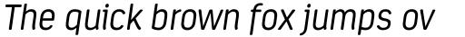 Estandar Rounded Light Italic sample