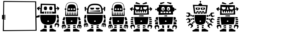 Click to view  Robots ht font, character set and sample text