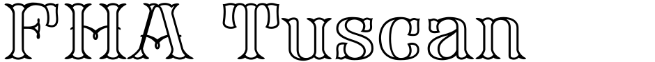 Click to view  FHA Tuscan Roman font, character set and sample text