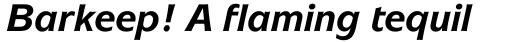 ITC Mixage Bold Italic sample